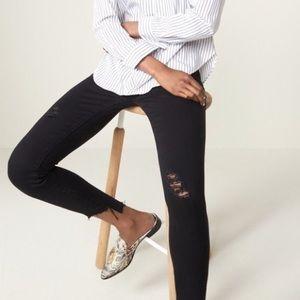 Articles of Society Stephanie Step Hem black jeans